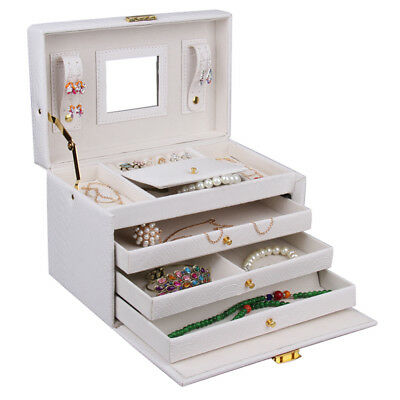 Jewelry Box Organizert Ring Necklace Case Cabinet Storage Box 91