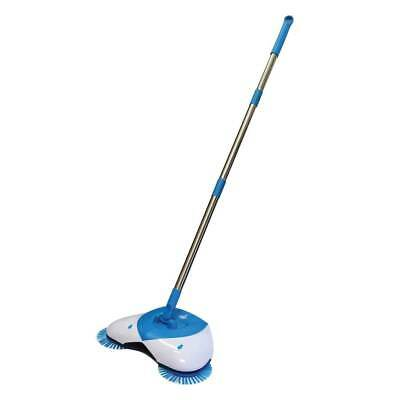Cordless Spin Sweeper Broom Hand-propelled Bonus Sweeper Clean Brush 360 degree