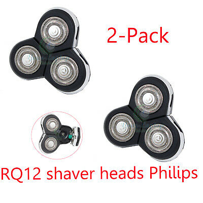 2x Replacement RQ12 Shaver Heads Philips Norelco SensoTouch GyroFlex Razor Blade