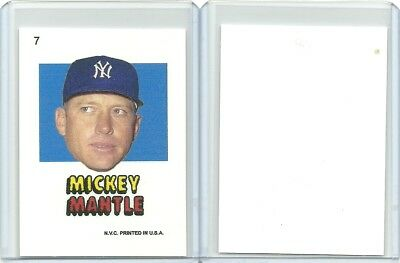 1967 Topps Sticker Style, Mickey Mantle, In Top Load Holder, New York Yankees