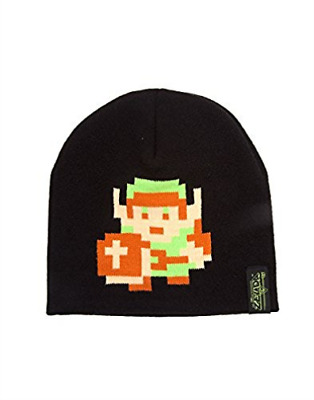 Nintendo - Zelda 8-Bit Link Pixel Beanie The Legend of Zelda, Black...  AC NEU