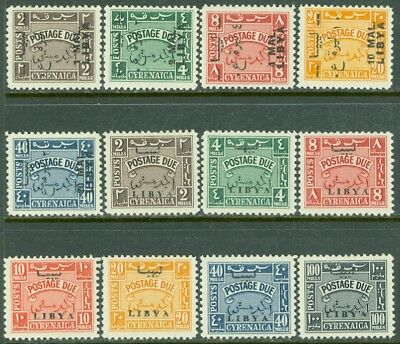 EDW1949SELL : LIBYA 1951-52 Sc #J25-29, 30-36 Both Cplt sets & VF MNH. Cat $399.