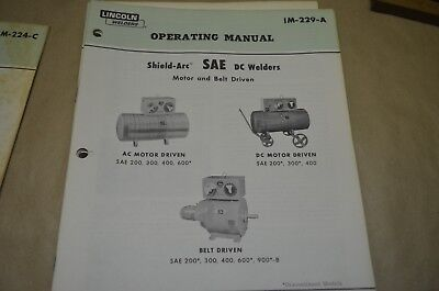 Lincoln Operating Manual - Shield-Arc Sae Dc Welders - Im-229-A