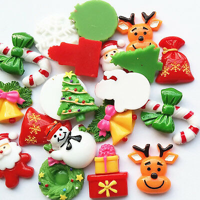 10pcs Resin Flatback Christmas Snowflake Button Decoration Jewelry Accessories