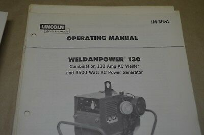 Lincoln Operating Manual - Weldandpower 130 - Im516-A
