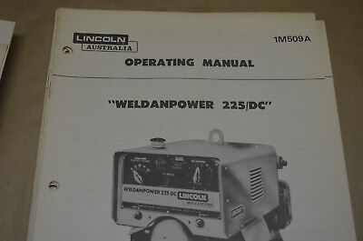 Lincoln Operating Manual - Weldandpower 225/dc - Im509-A