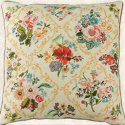 Design Perfection Freestyle Embroidery Kit - Victorian Flower Cushion