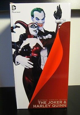 Harley Quinn & The Joker Statue Alex Ross DC Colletibles Mad Love First Edition