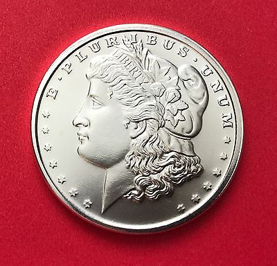 1 oz Silver Bullion Morgan Dollar Round - .999 Pure Silver