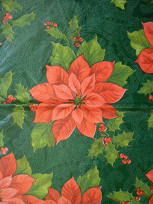 Assorted Sizes Vinyl / Flannel Backed Tablecloths Christmas Multi-color Elrene