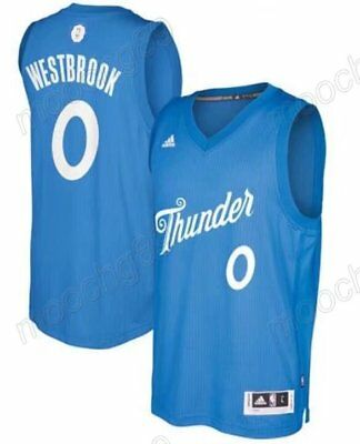 New Men's Christmas Oklahoma City Thunder #0 Russell Westbrook Basketball Jersey