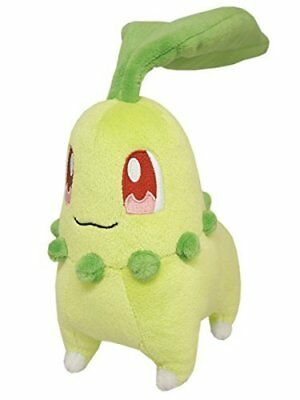 Sanei Pokemon All Star Collection PP40 Chikorita 6  Stuffed Plush