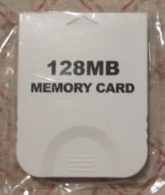 Generic White Memory Card 2043 blocks 128MB for Nintendo Gamecube & Wii