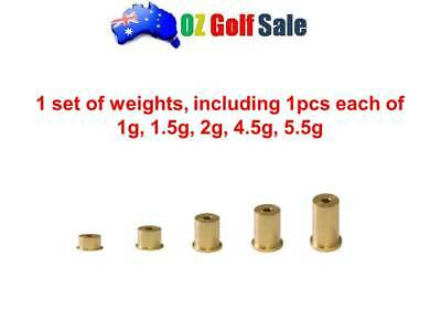 1set (5pcs) Brass Plug Tip Weight for Golf Steel Taper Iron Shaft .355