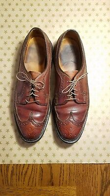 Florsheim Imperial Brown Longwing Brogue Wingtip VCleat Leather Dress Shoes 9.5E
