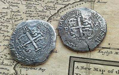 Spanish 8 Reales Cob Caribbean Pirate Silver 1692 Round Bullion 1oz+