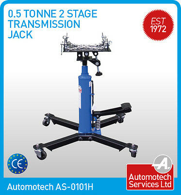 2 STAGE HYDRAULIC GEARBOX TRANSMISSION JACK (500Kg) NEW *