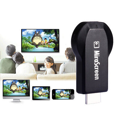 MiraScreen 1080P WiFi Display Dongle Receiver AV DLNA Airplay Miracast HDMI L