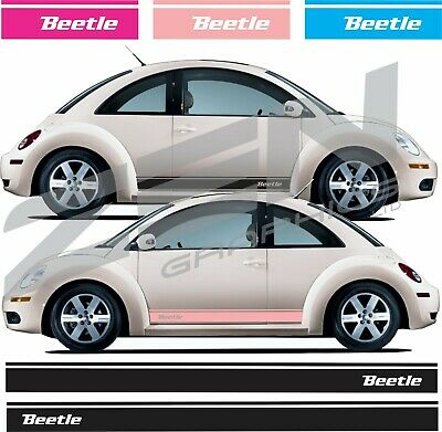 VW volkswagen Beetle Side Stripes Graphics Decals Stickers any colour