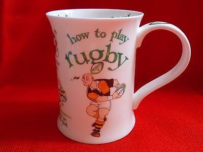 "Dunoon  ""how To Play Rugby'"" Cherry Denman Design Fbc Mug"
