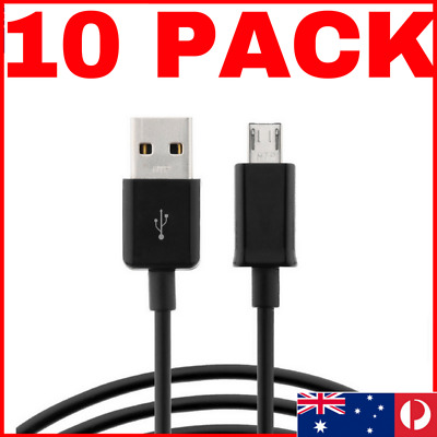 10 Pack 1 METER 2M 1M Micro USB Cable  Mini Data Charging Samsung HTC s7 s6 s5
