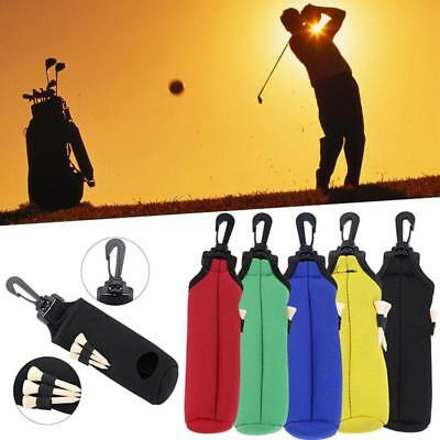 LQS Golf Ball Tees Pouch Holder Clip Golfing Accessories Utility Bag Holder Clip