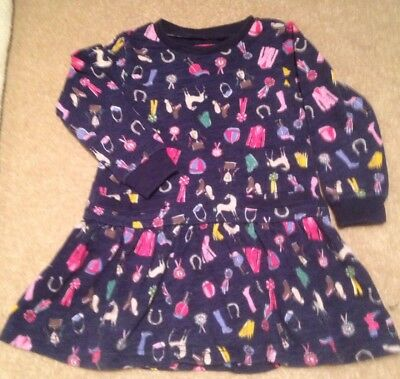 Joules Girls Navy Dress Age 2