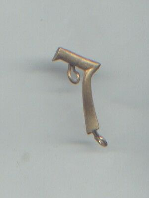 """ORIGINAL BRASS KEPI NUMBER - """"7"""" ring fitting, French or Belgium soldiers in WWI"""