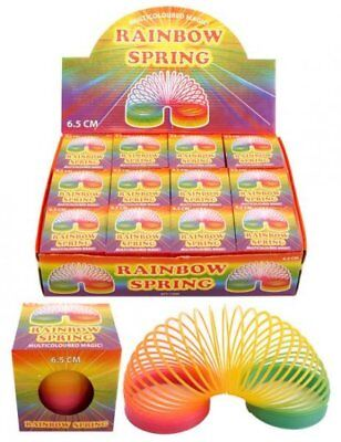 Rainbow Coloured Spring Slinky Childrens Toy Springs Bouncy Toy For Party Gifts