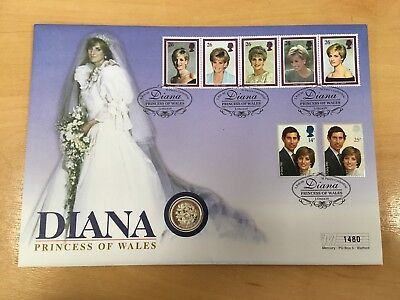 CC ~ Collectable Commemorative Coin Cover 1997 ~ £1 ~ Diana ~ Princess of Wales