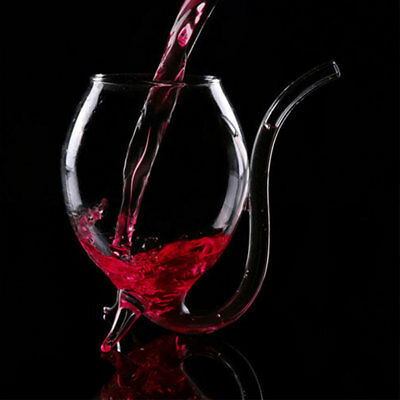 300ml Vampire Devil Clear Glass Juice Red Wine Cup Mug with Nozzle Gift