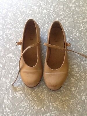 Bloch ladies tan tap shoes size 8