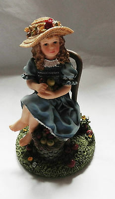 Gorgeous Christine Haworth Figurine Girl With Apples.