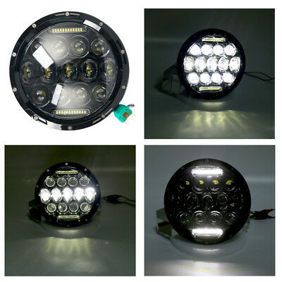 "1x 7"" 75W Motorcycle Harley Daymaker HID LED Headlight Head Lights Headlamp AU"
