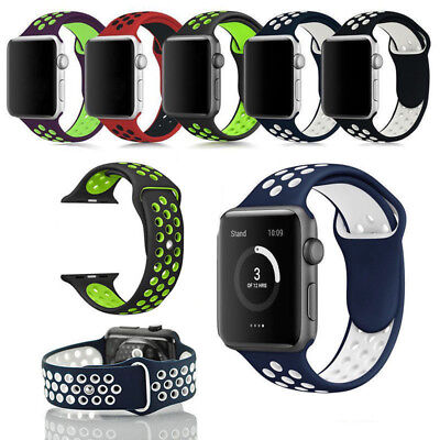 Replacement Silicone Sports Band Strap Bracelet For Apple Watch iWatch 38mm/42mm