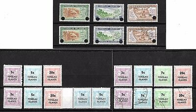 Tokelau Islands stamps on 3 stockcards - H/Mint & Used - 1948 onwards