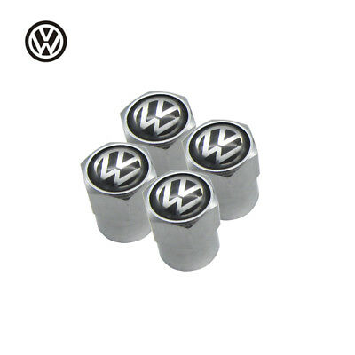 Brand New Volkswagen Tyre Caps Chrome Set Of 4 Covers for Car Wheel Dustcaps