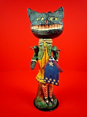 Poliwoggs American Folk Art Collectibles Black Cat Figurine