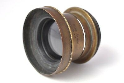Antique 9 x 7 Wide Angle Brass Lens