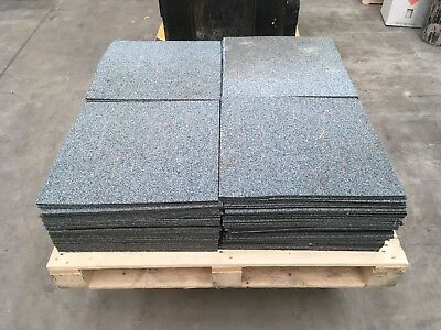 80 + Used Blue/green Mix Loop Carpet Tiles