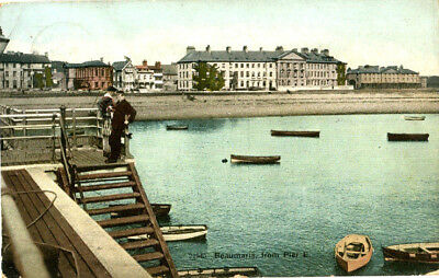1905 postcard BEAUMARIS from Pier Steps Anglesey