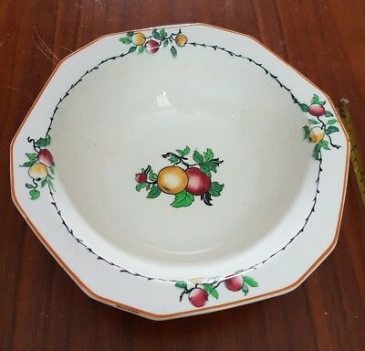 Vintage Alfred Meakin 'Grove' Fruit Design serving Bowl / Dish 8.5 inch