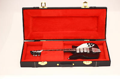 John Lennon Beatles Miniature Guitar in a leather case