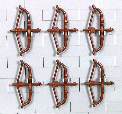 LEGO Lord Rings Hobbit - 6 Brown Elven Bows Longbows (NEW)