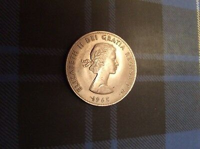1965 Churchill crown. Greatest Briton and longest reigning monarch on one coin.