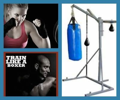 MAX 3Way Punch Bag STAND + SPEED BALL + REFLEX FLOOR BALL + PUNCHBAG Boxing MMA