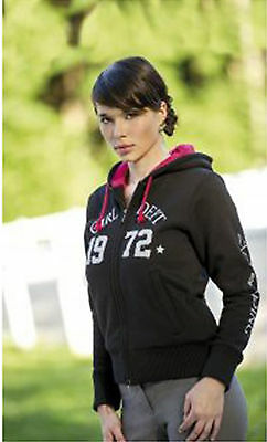 Equi Theme Sweatjacke After Riding 1972 Kapuzenjacke schwarz/pink Gr. 158/164