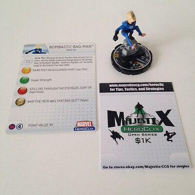 Heroclix Web of Spider-Man set Bombastic Bag-Man #063 Chase figure w/card!
