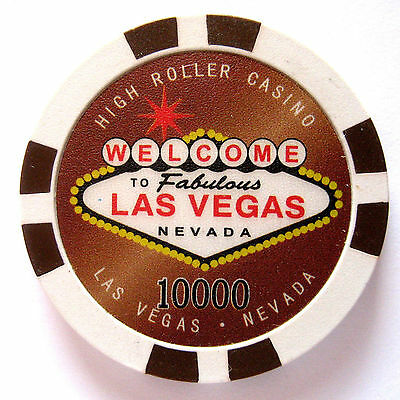 WELCOME TO LAS VEGAS, NEVADA  Collectible Poker chip value $1000 (#6341/42#)#
