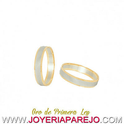 Pair of Alliances of Wedding Gold Two-color of 18 Carat REF:1727